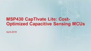 MSP430_CapTIvateLite_成本优化的电容触摸微控制器